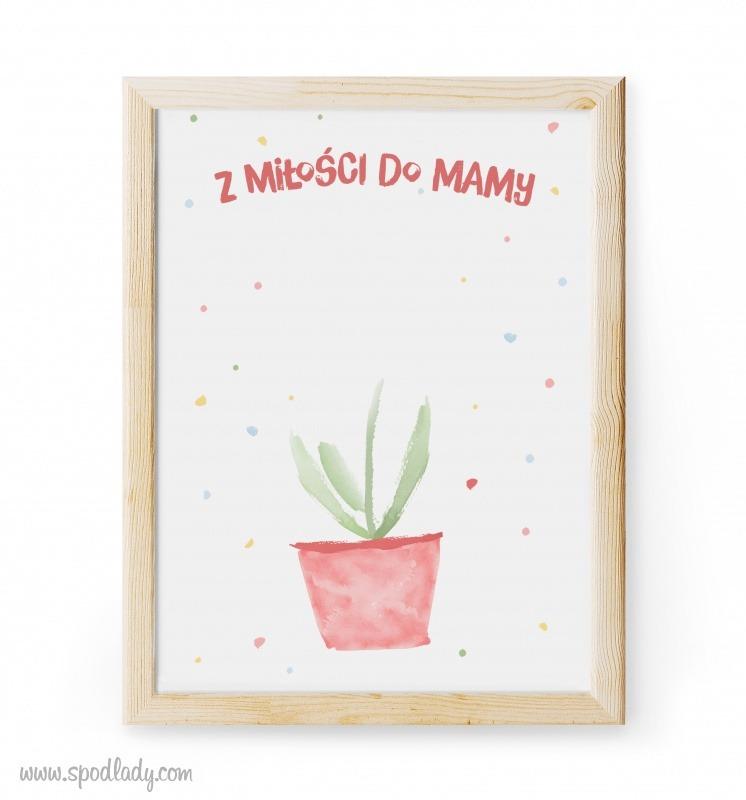 Prezent dla mamy od dziecka. Obrazek: Kwiatek dla mamy.