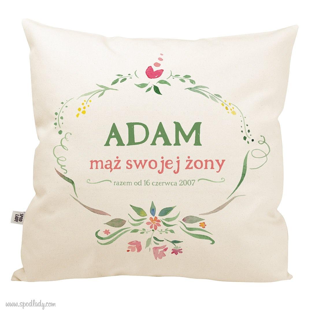 Zestaw poduszek z imieniem