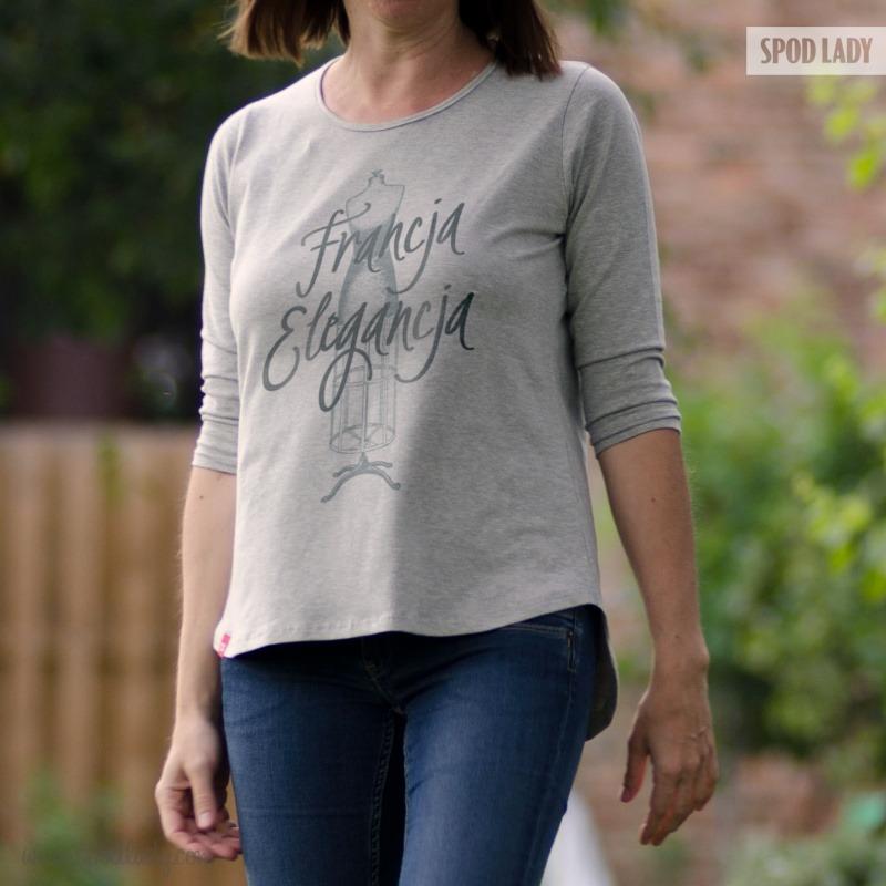 Bluzka damska z nadrukiem. Pomysł na prezent .
