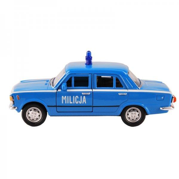Miniatura milicyjnego Fiata 125p. Upominek dla miłośnika samochodów.
