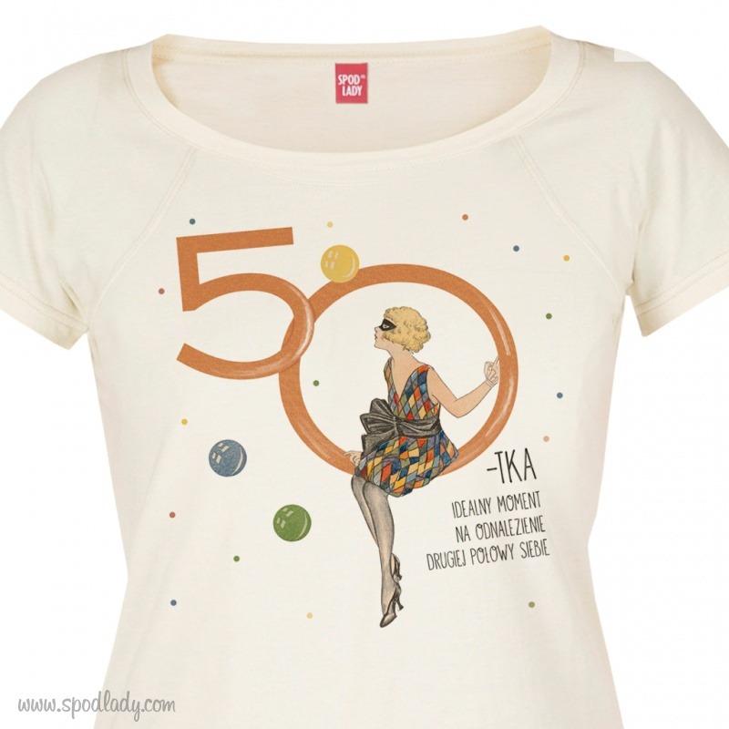 Koszulka na 50 urodziny. Pomysł na upominek urodzinowy.