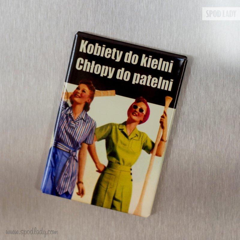 Magnes dla przodowniczek pracy. Upominek dla kobiety.