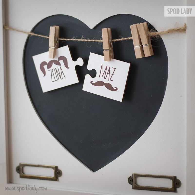 Sympatyczne magnesy dla męża i żony. Upominek z okazji ślubu i rocznicy.