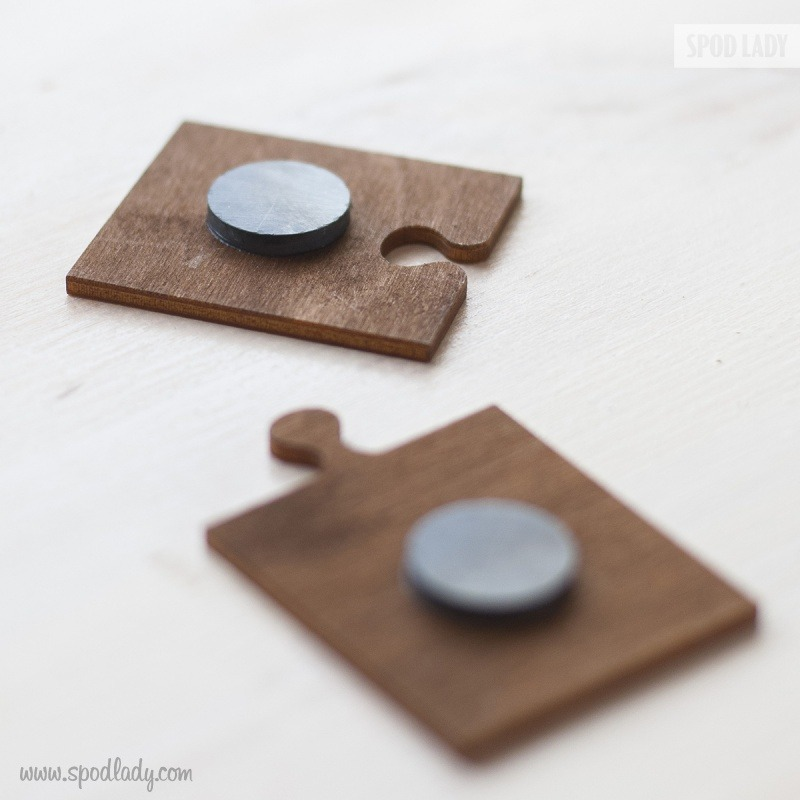 Starannie wykonane magnesy dla męża i żony.
