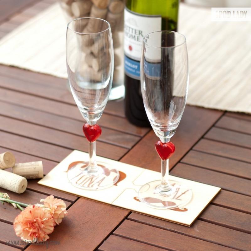 Podkładki pod kubek dla męża i żony. Upominek z okazji ślubu i rocznicy.