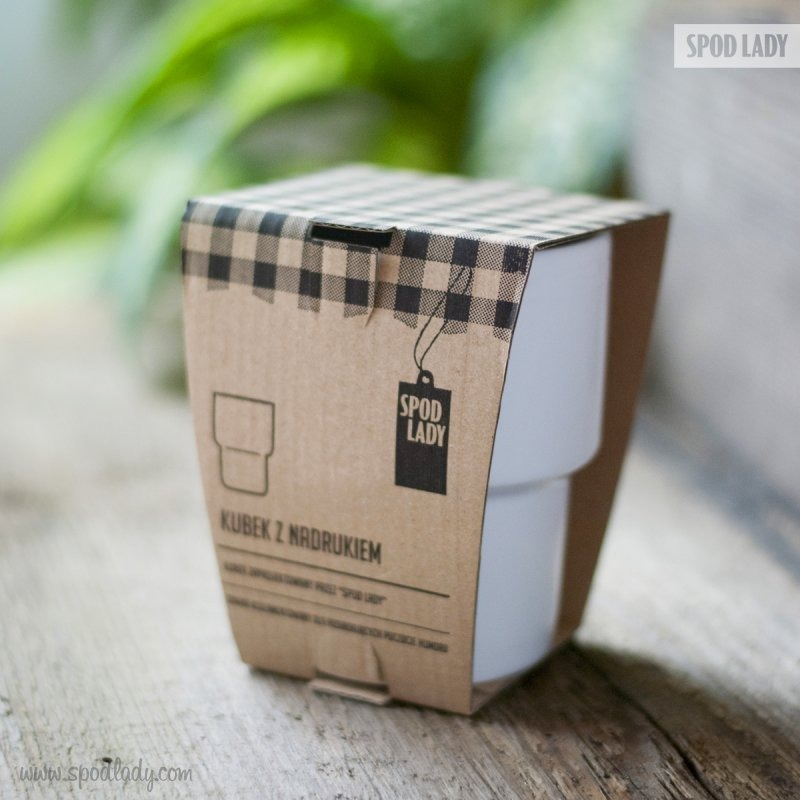 Pomysł na upominek. Kubek barowy z nadrukiem: Mleko.