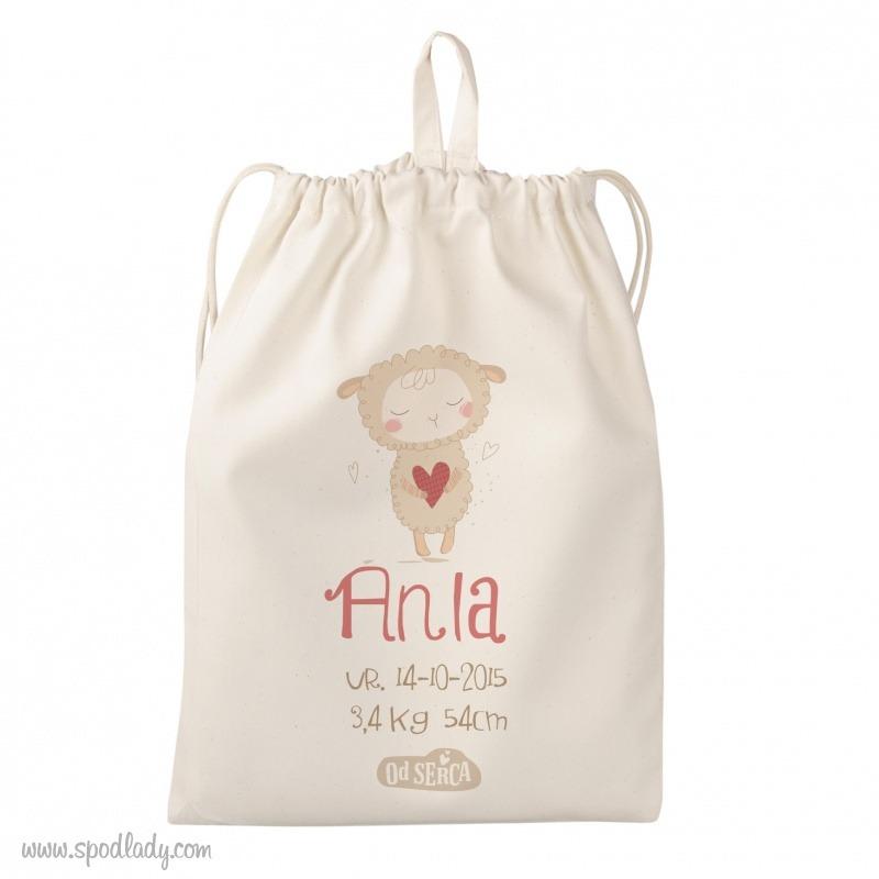 Personalizowany woreczek dla noworodka.