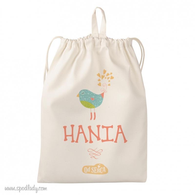 Personalizowany woreczek dla małego dziecka. Sympatyczny prezent.