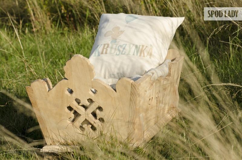Poduszka dla malucha z nadrukiem, prezent od serca.