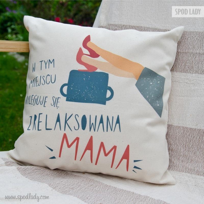 Nadruk na poduszkę dla mamy. Prezent z okazji Dnia Mamy.