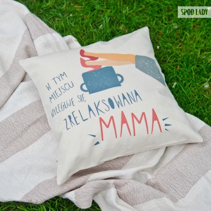 Podarunek stworzony dla mamy. Poduszka z sympatycznym nadrukiem.