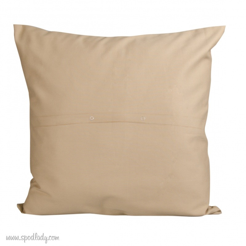Poduszka na prezent dla chłopaka. Tył poszewki na poduszkę.