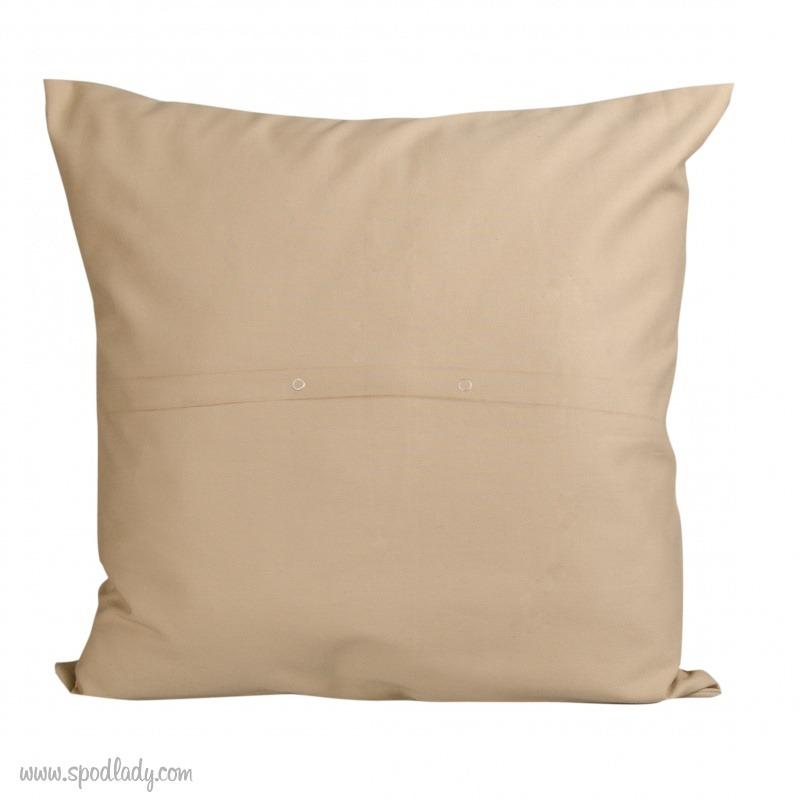 Poszewka na poduszkę dla kobiety. Tył poszewki.