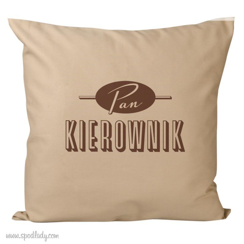 Zabawna poduszka na prezent dla mężczyzny. Pomysł na upominek.