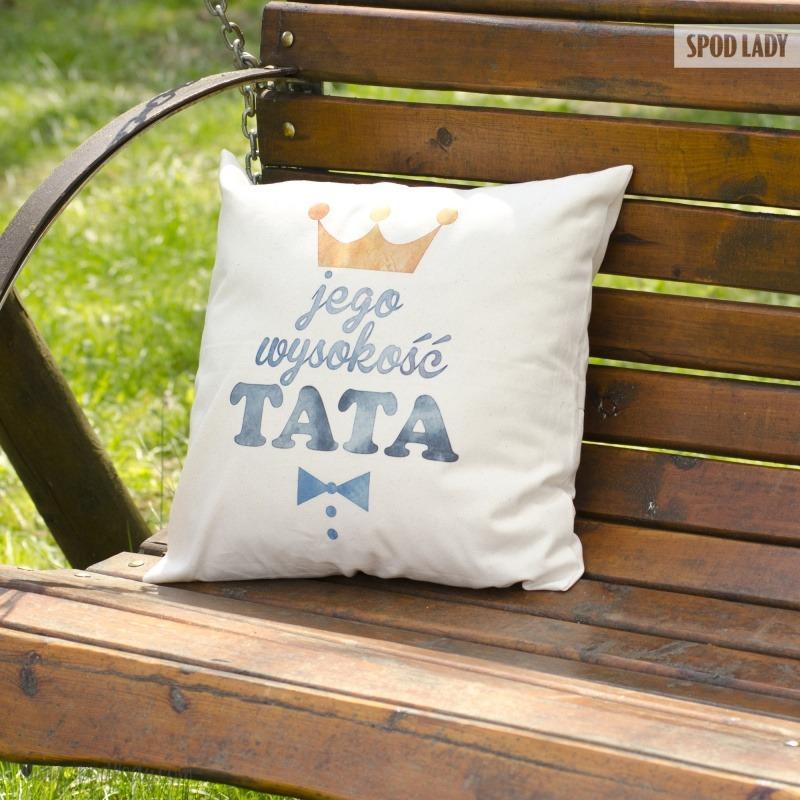 Zabawna poduszka dla taty. Pomysł na upominek.