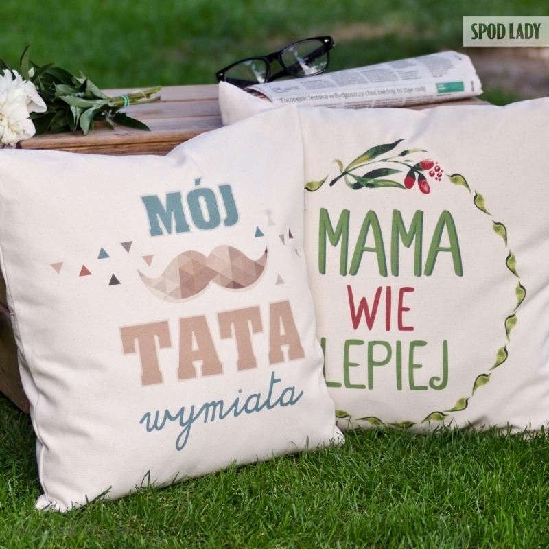 Poduszka dla mamy i dla taty w zestawie. Podarunek dla rodziców.