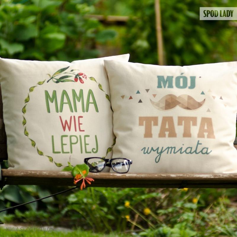 Zestaw poduszek dla mamy i taty. Pomysł na upominek dla rodziców.