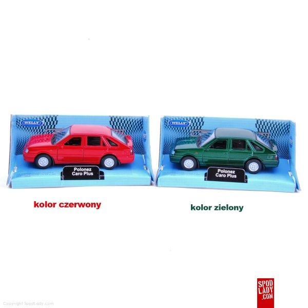Wersje kolorystyczne miniaturek samochodu Polonez Caro.