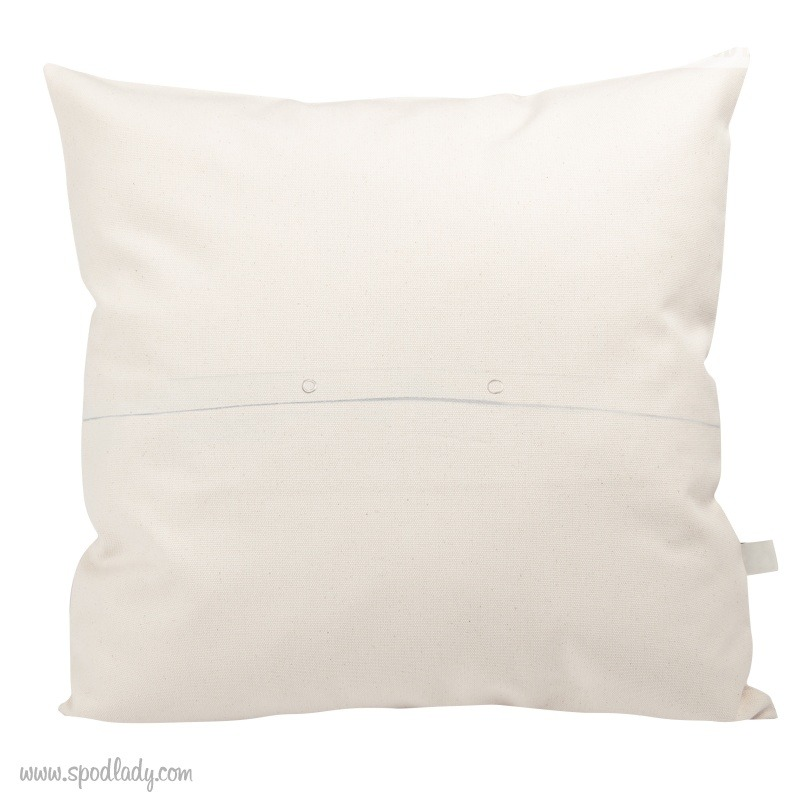 Poduszka dla mamy do kolorowania. Tył poszewki.