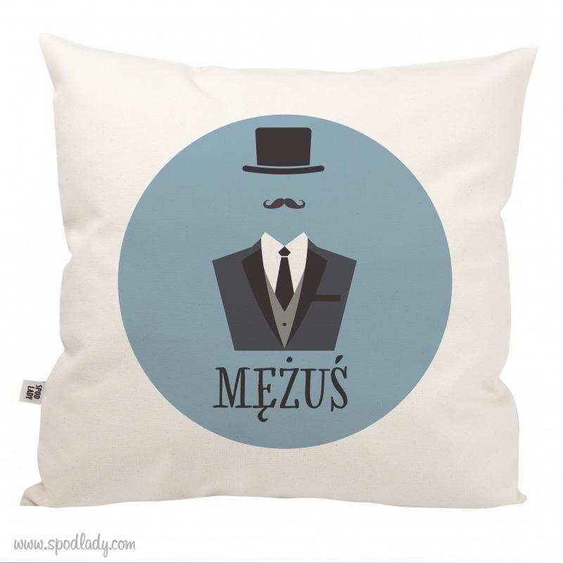 Poduszka na prezent dla męża.
