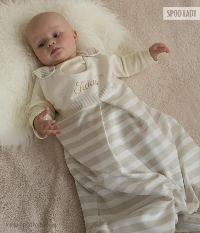Personalizowany śpiworek dla malucha.