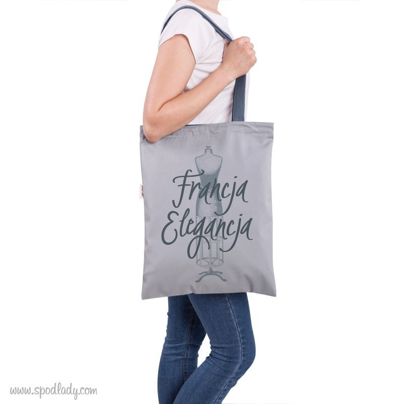 Torba na ramiê z nadrukiem: Francja elegancja. Pomys³ na podarunek.