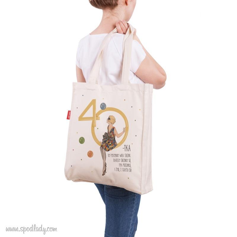 Upominek na 40 urodziny. Zabawna torba.
