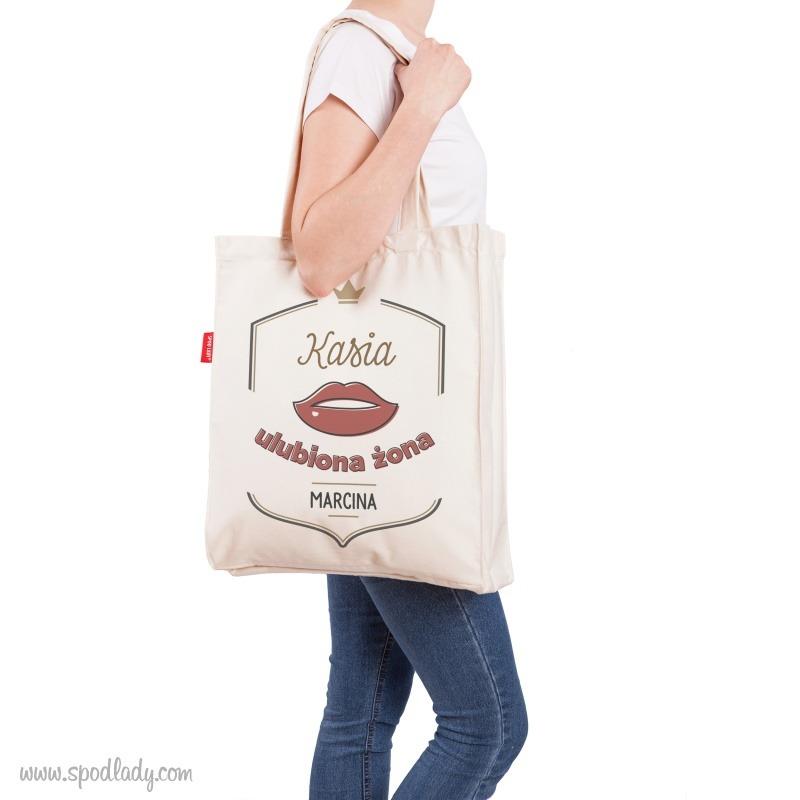 Personalizowana torba: Ulubiona zona. Prezent dla żony.