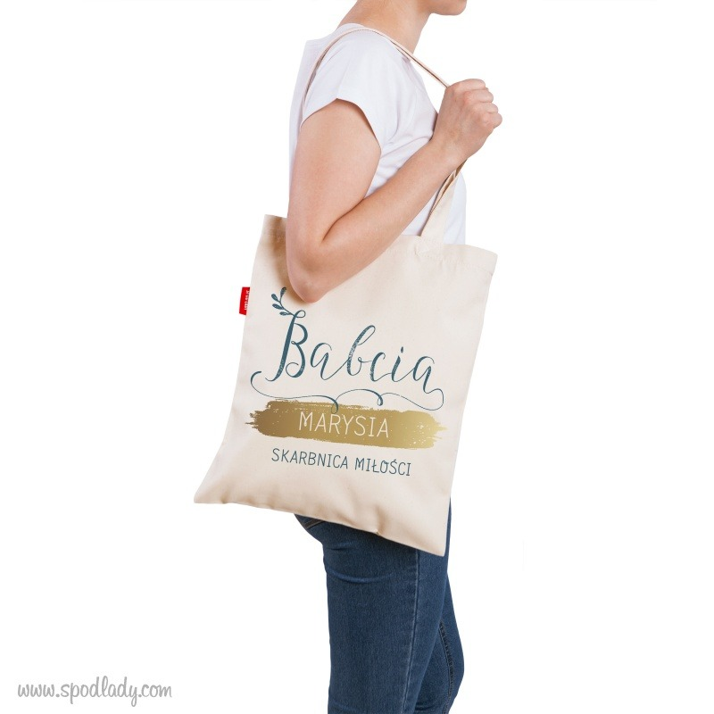 Personalizowana torba dla babci. Pomysł na sympatyczny podarunek.