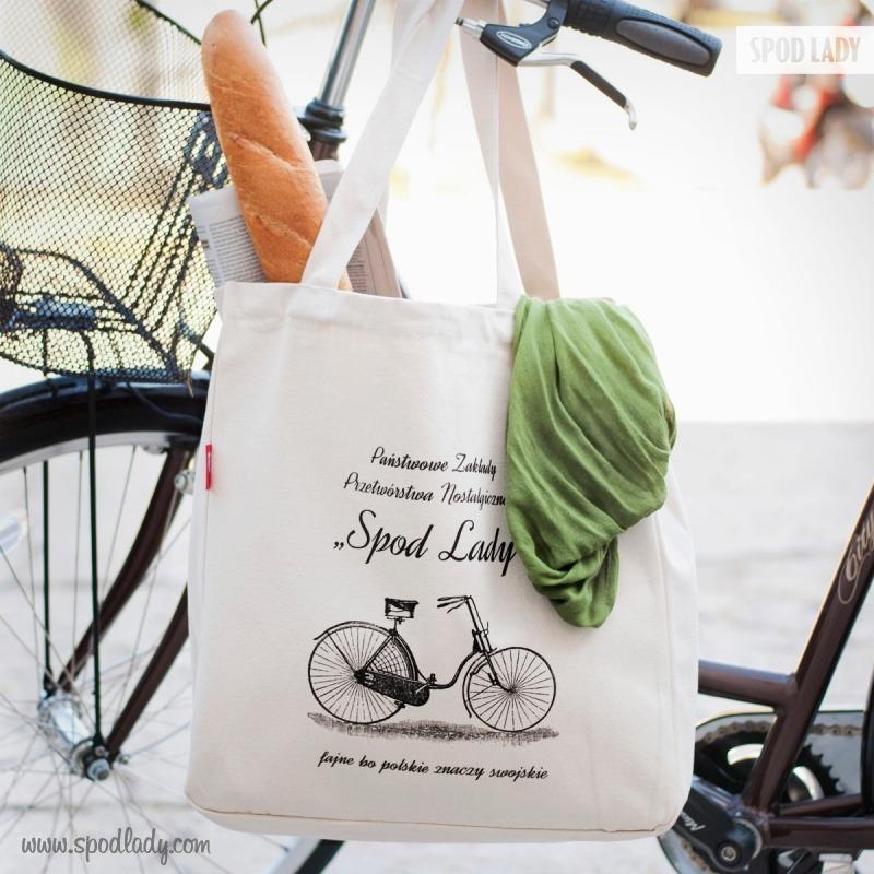 Upominek dla rowerzysty. Sympatyczna torba.
