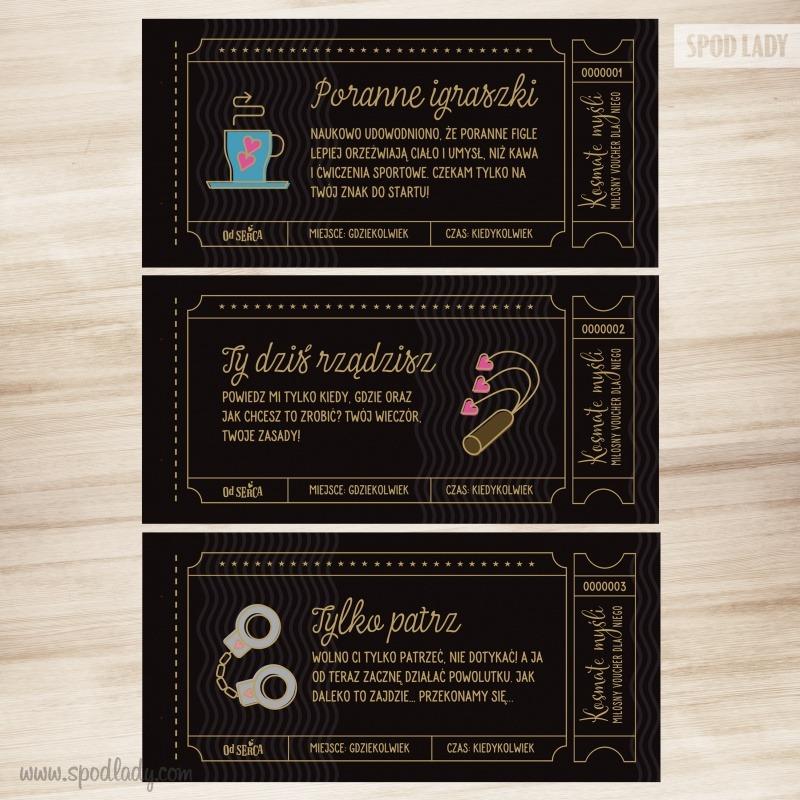Śmieszne vouchery dla mężczyzny. Idealny pomysł na prezent na wieczór kawalerski i nie tylko.