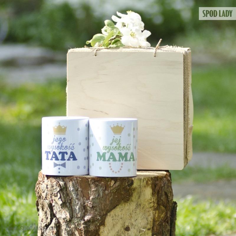 Zestaw kubków na prezent dla mamy i taty. Pomysł na prezent dla rodziców.