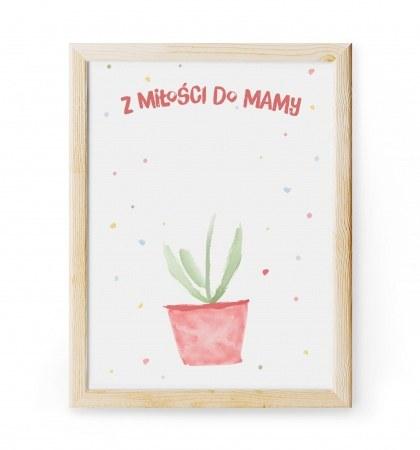 """Obrazek """"Kwiatek dla mamy"""" do ozdobienia r±czkami"""
