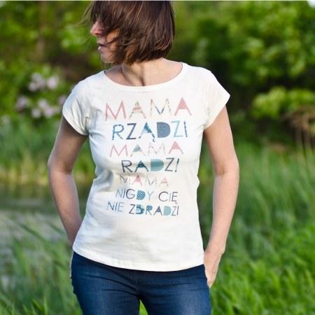 """Koszulka damska """"Mama rz±dzi"""""""