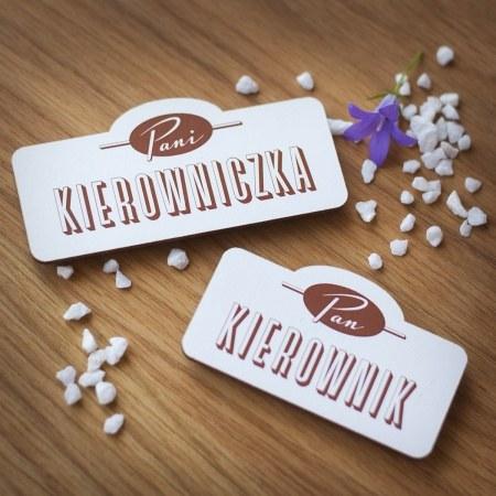 """Magnes drewniany """"Pan Kierownik"""""""