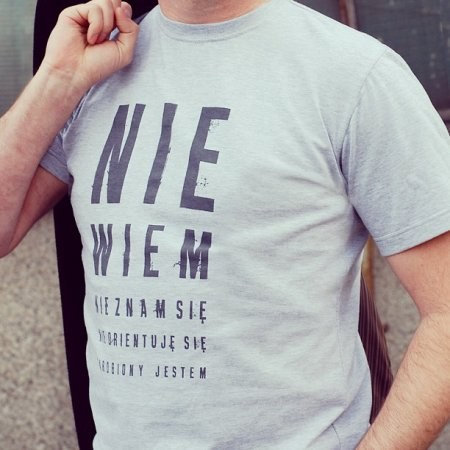 """Koszulka mêska """"Nie wiem, nie znam siê"""""""