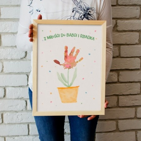 """Obrazek w ramce """"Kwiatek dla babci i dziadka"""""""