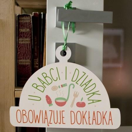"""Tabliczka drewniana """"U Babci i Dziadka"""""""