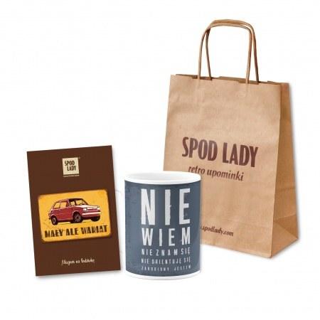 Ma³a torebka papierowa z nadrukiem Spod Lady