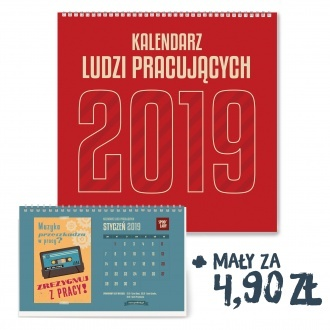 Kalendarz ścienny Spodlady 2019 plus mały za 4.90 zł