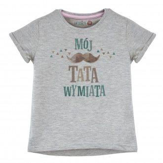 """Koszulka dla dziewczynki """"Mój tata wymiata"""""""