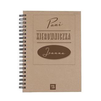 """Personalizowany notes """"Pani Kierowniczka"""""""