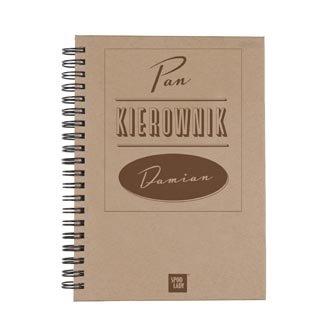 "Personalizowany notatnik ""Pan Kierownik"""