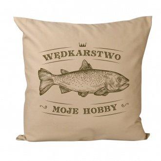 """Poduszka """"W�dkarstwo moje hobby"""""""