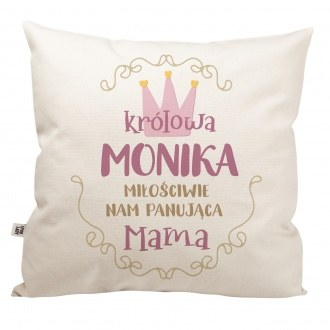 """Poduszka z imieniem """"Królowa mama"""""""