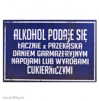 "Tablica ""Alkohol z przek±sk±"""