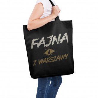 """Torba XXL """"Fajna z Warszawy"""""""