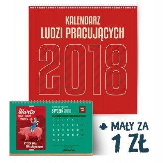 Kalendarz ¶cienny Spodlady 2018 plus ma³y za 1 z³