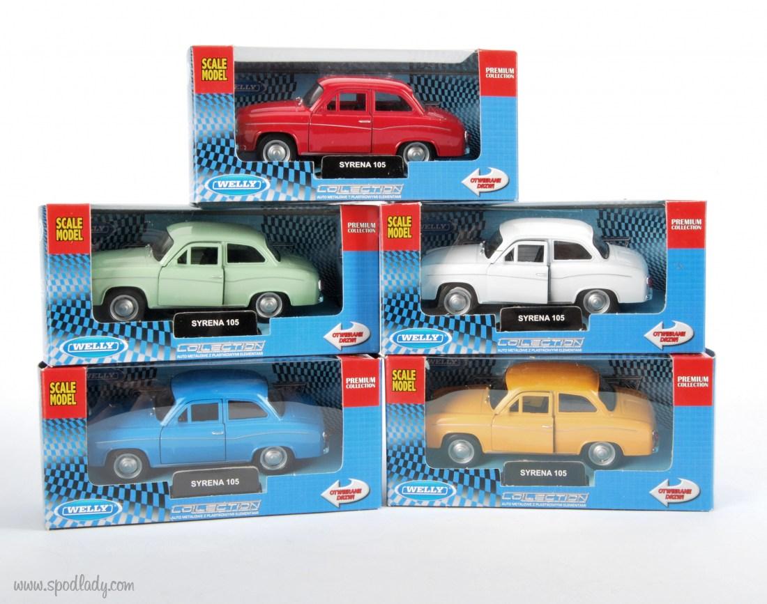 Miniaturka auta Syrena w wielu wersjach kolorystycznych. Pomysł na upominek dla miłośnika motoryzacji.