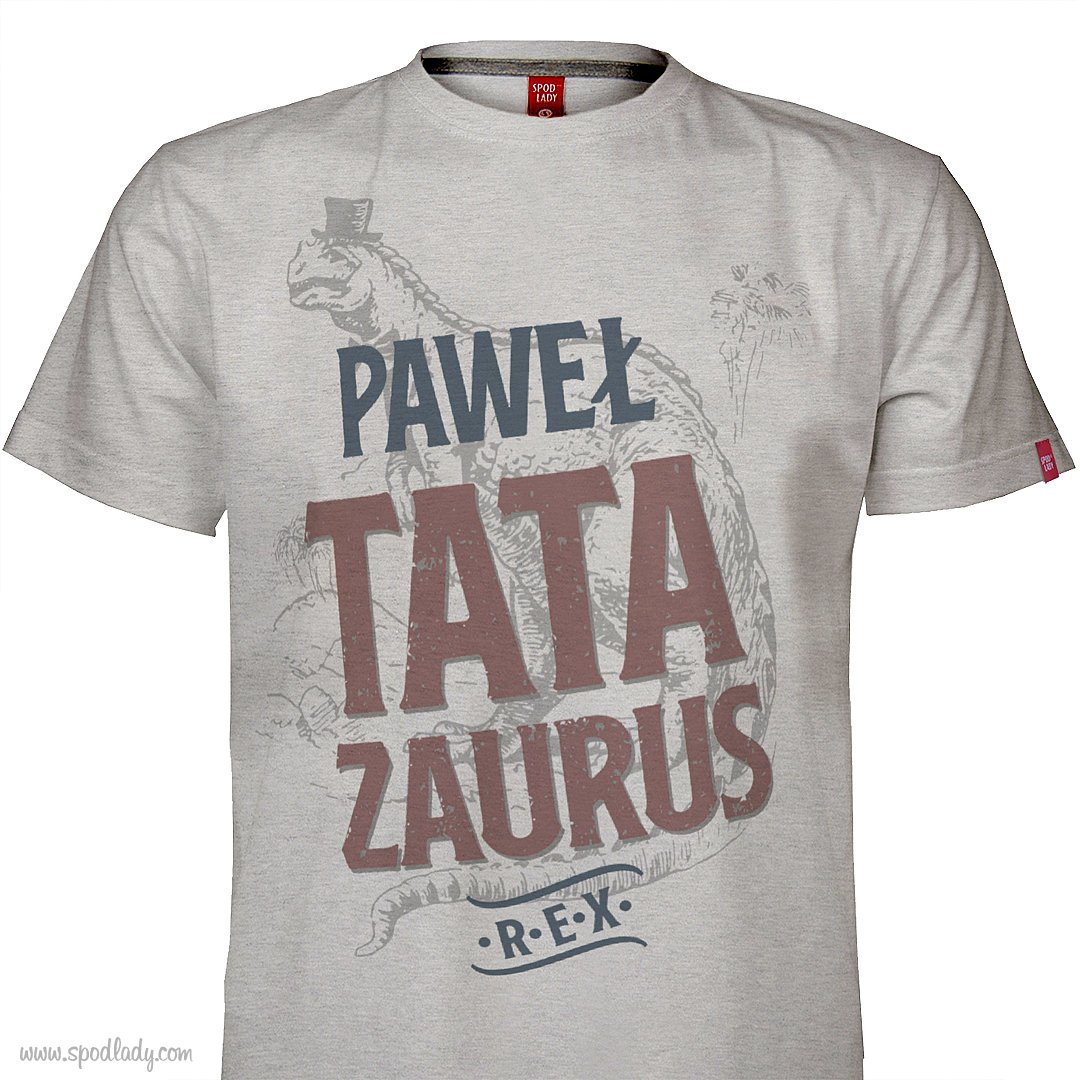 "Koszulka męska z imieniem ""Tatazaurus Rex"""